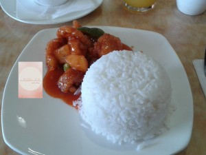 Nom nom nom...Sweet and Sour Pork.