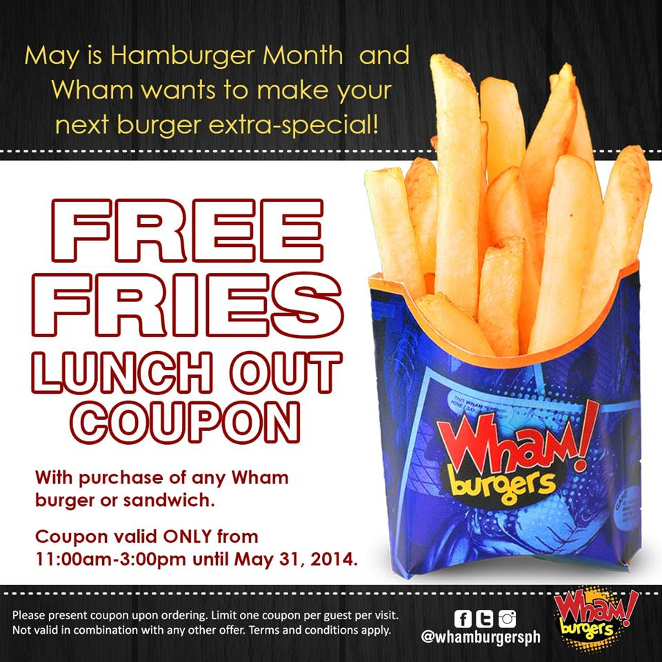 Celebrate National Burger's Month at Wham! Burgers