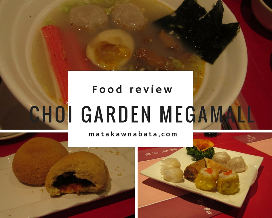 Authentic Cantonese cuisine at Choi Garden Megamall