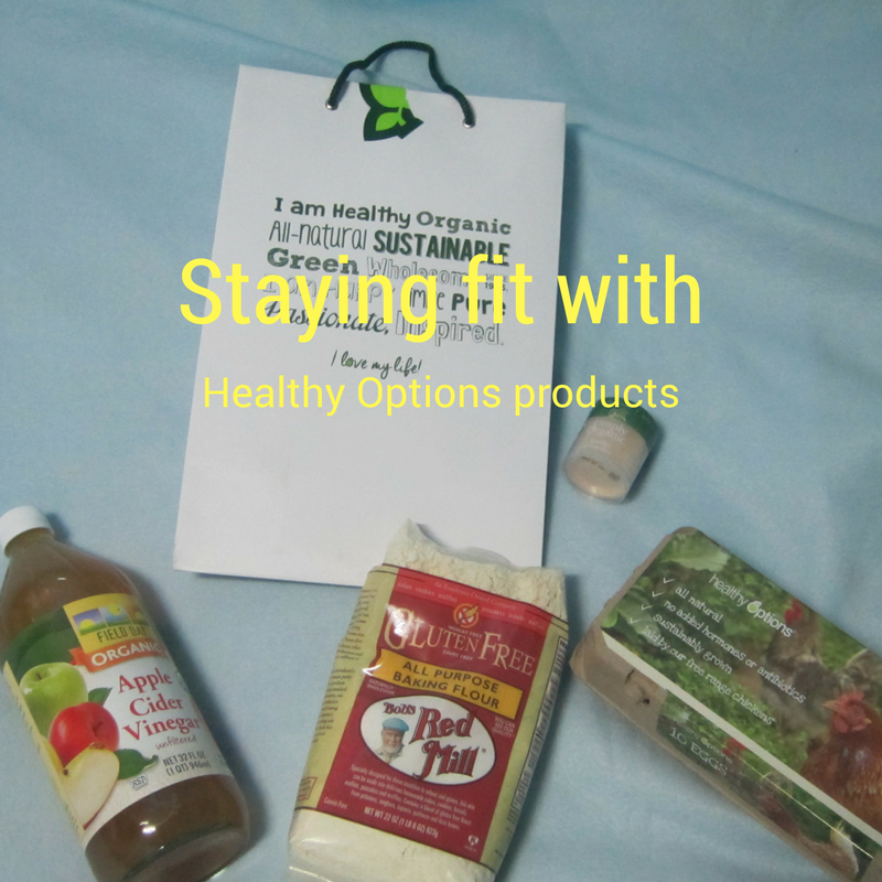 Staying fit with Healthy Options products