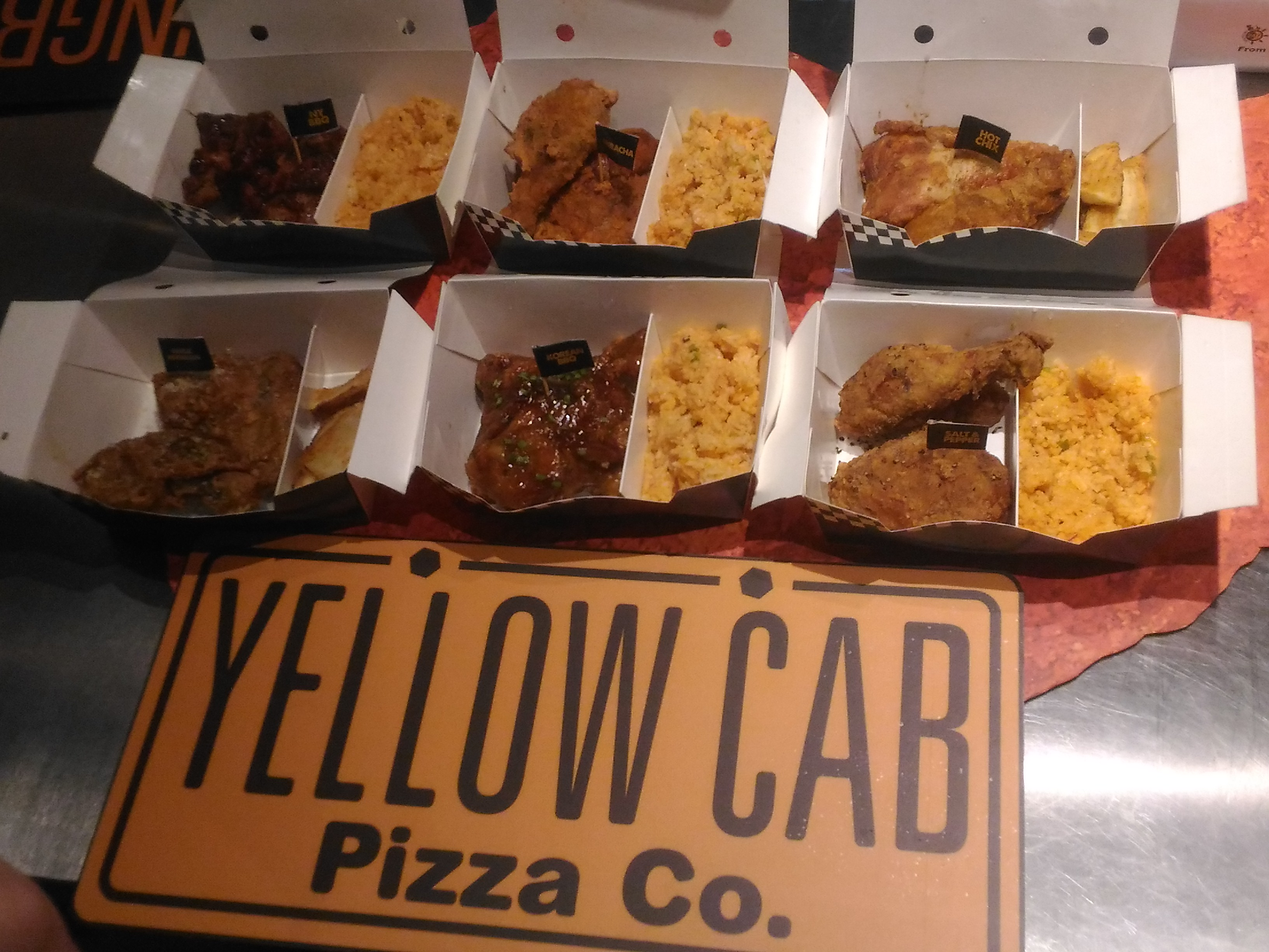 Fuel your hunger with Yellow Cab's six explosive Drum and Thigh flavors